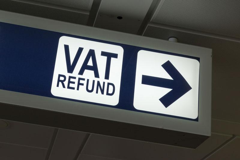 VAT refund sign
